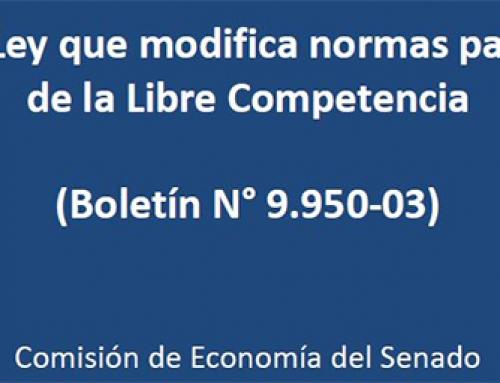 Presentación de la CPC ante la Comisión de Economía del Senado, por Proyecto de Ley que modifica normas para la defensa de la Libre Competencia (Boletín N° 9.950-03)