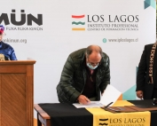 Firma convenio CPC-Kimün prensa