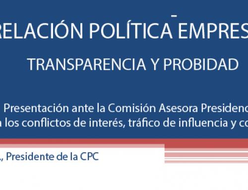 Presentación de la CPC ante la Comisión Asesora Presidencial  contra los conflictos de interés, tráfico de influencia y corrupción. 10 de abril de 2015